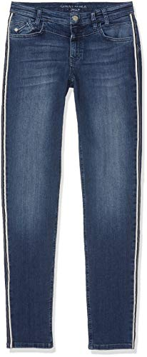 92 Blau Streifenband Laura Julia Seitlich Jeans bleached Slim Ng Gina Femme FwqTCRT