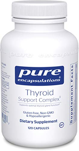 Kelp Loss Hair (Pure Encapsulations - Thyroid Support Complex - Hypoallergenic Supplement with Herbs and Nutrients for Optimal Thyroid Gland Function* - 120 Capsules)