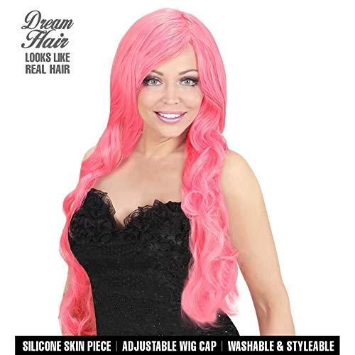 Widmann 02075 Spiral Curly Wig Dreamhair, Women, Pink, One Size ()