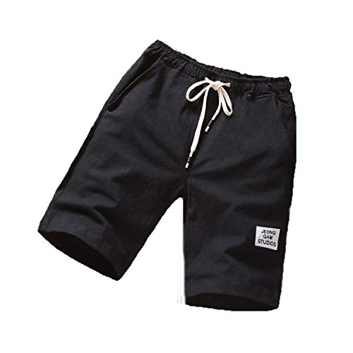 - HOUBL Breathable Fashion Solid Color Shorts Summer Fitness Running Training Quick-Drying Sports Pants,Black,XL,China