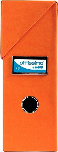 Exacompta 59961E Archivbox (Griffloch, Offissimo, lederartig Etikettenhalter, Rücken 95 mm, DIN A4) orange