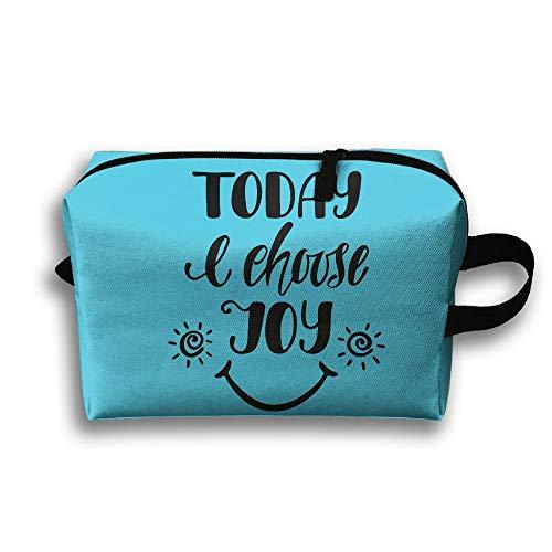Today Choose Joy Cosmetic Bags Makeup Organizer Bag