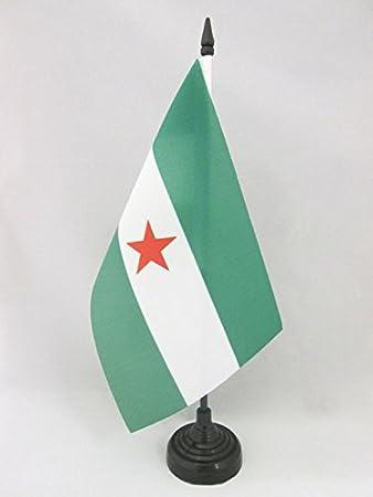 AZ FLAG Bandera de Mesa de Andalucia ARBONAIDA 21x14cm - BANDERINA de DESPACHO INDEPENDENTISTA ANDALUZA - NACIONALISMO Andaluz 14 x 21 cm: Amazon.es: Hogar