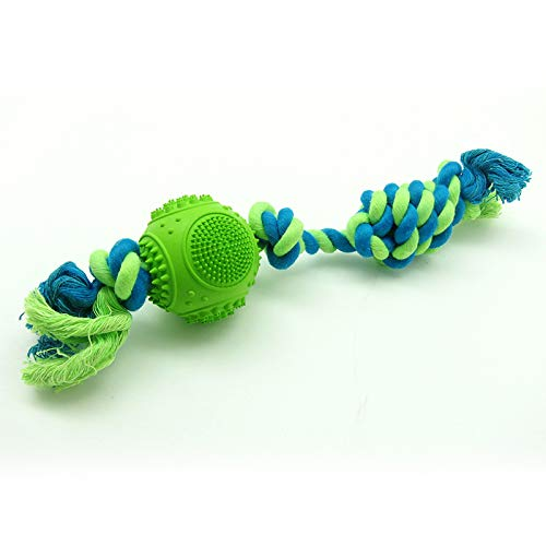 FirePB Pet Toy Cotton Rope Pets Toy Pets Cotton String Pets Rubber Toy Rubber Ball Cotton Rope Toy