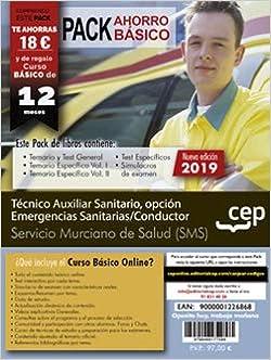Pack de libros. Técnico Auxiliar Sanitario, opción Emergencias Sanitarias/Conductor. Servicio Murciano de Salud: Amazon.es: CEP: Libros