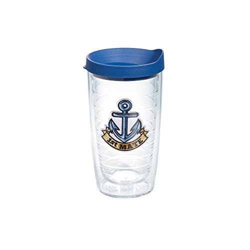 Tervis 1st Mate Anchor Emblem Bottle with Blue Lid, 16-Ounce, On The Water