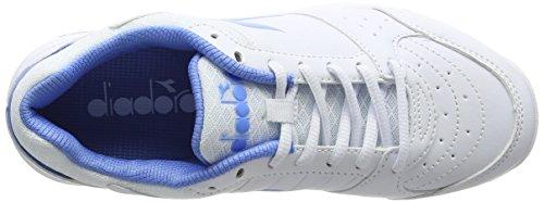 Shoes Off Iris Women's White Smash Tennis Bianco Diadora W Blu q8I67wFFX