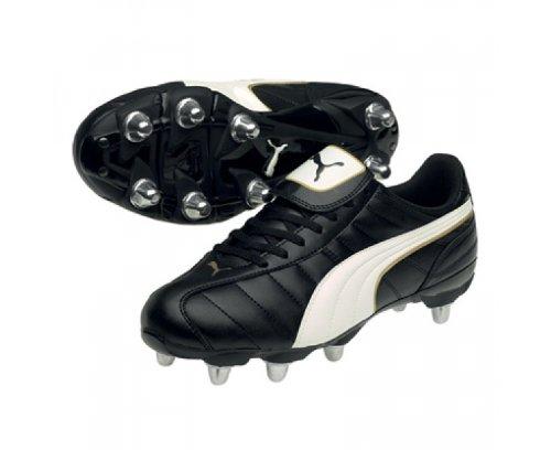 Puma - Botas de fútbol para hombre negro 8