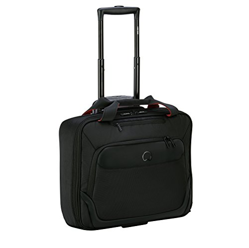DELSEY PARVIS PLUS Laptop Rollkoffer, 42 cm, 19 liters, Schwarz (Noir)
