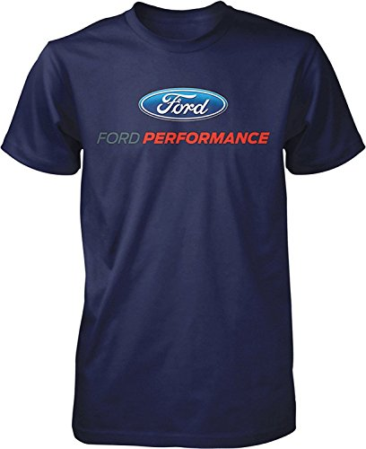 Ford Performance T-Shirt Mustang GT ST Racing (Front Print), Navy Blue, 2XL