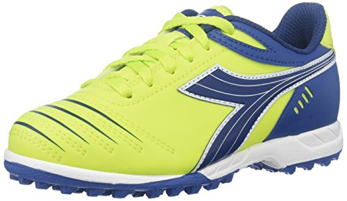 Diadora Kids' Cattura TF Jr-K, Lime Green/Royal, 11.5 M US Little (Diadora Footwear)