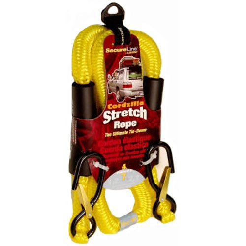 Wellington-Cordage Cordzilla Stretch Rope Bungee 4' L, 8 MM 400 lbs, Yellow by Crawford-Lehigh (Image #2)