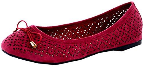 Refresh Footwear Women's Laser Cut Ballet Flat (10 B(M) US, (Footwear For Women)