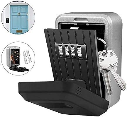 Caja de almacenamiento para llaves para exteriores, resistente al ...