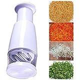 Hommii Kitchen Slicer Peeler Dicer Vegetable Garlic Onion Food Pressing Chopper White