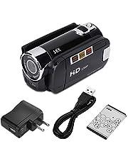Digitale videocamera Camcorder 2,7-inch scherm 270 ° rotatie 16x High Definition HD USB-video(black, U.S. regulations)