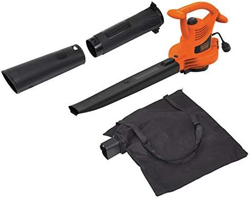 BLACK DECKER 3-in-1 Electric Leaf Blower, Leaf Vacuum, Mulcher, 12-Amp BV3100
