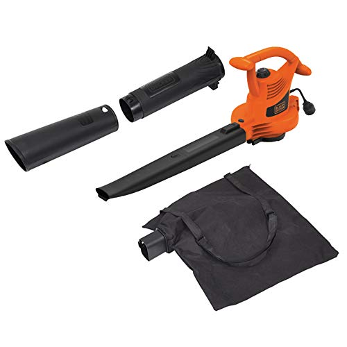 BLACK DECKER 3-in-1 Electric Leaf Blower, Leaf Vacuum, Mulcher, 12-Amp BV3100