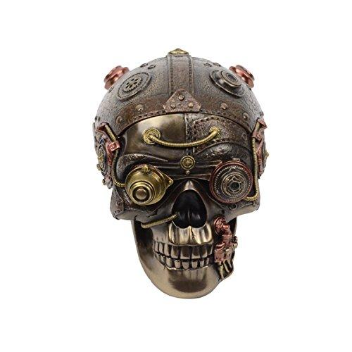 TreasureGurus, LLC Steampunk Machinery Desktop Skull Diversion Hidden Compartment Stash/Cash Box ()