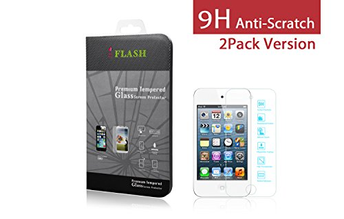 iFlash 2 Pack of Premium Tempered Glass Screen Protector For Apple iPod Touch 4th Generation - Protect Your Screen from Scratches and Bubble Free - Maximize Your Resale Value - - Cheap 4th Generation Ipod Touch