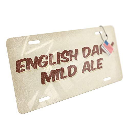 (NEONBLOND English Dark Mild Ale Beer, Vintage Style Aluminum License Plate)