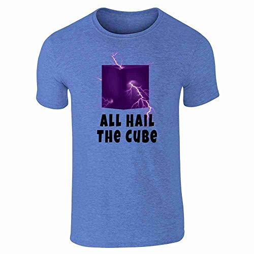 All Hail The Cube Heather Royal Blue M Short Sleeve T-Shirt