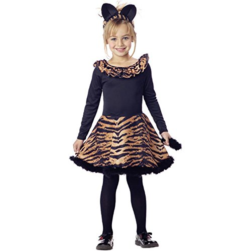 [Child's Tiger Dress Halloween Costume (Size: Small 6-8)] (Tiger Halloween Costumes)