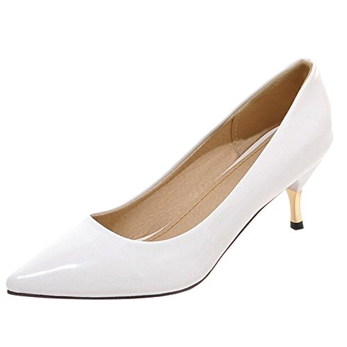 Women Pumps TAOFFEN Thin Heel White Fashion Pointy gRdZqnvd