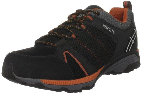 Worksite SS607SM Herren Sicherheitsschuhe Schwarz (Black/Orange)