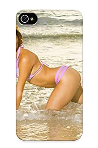 Inthebeauty Case Cover Protector Specially Made For Iphone 4/4s Florida Panthers Nhl Hockey Cheerleader Bikini Sexy Babe