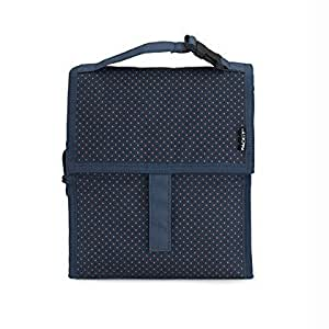 PackIt 10'' inch 10 h hour Freezable Foldable Reusable Multipal Uses Lunch Bag with Adjustable Strap - Premium High Quality (Micro Dot)