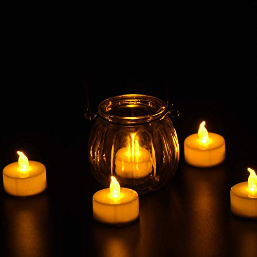 125 Pack LED Flameless Tea Light Candles, Battery Tea Light Candles, Warm White Realistic Flickering Bulb Light for Weeding, Votive, Patry, Home by Angium (Image #2)