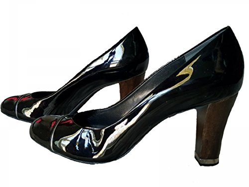 ann-taylor-shiny-black-shoes-wooden-heel-toe-cap