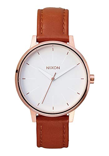 Nixon Womens Kensington Leather Japanese quartz Leather watches Rose Gold / White A108 from NIXON