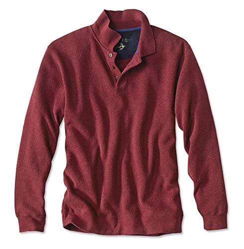 Orvis Men's Signature Softest Polo Sweatshirt, Currant, Medium