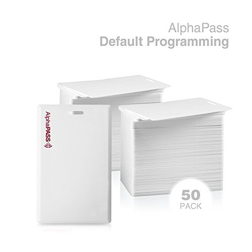 Choose your Facility Code /& Range. 25 Pack Standard 26 bit H10301 Format Same Day Custom Programmed AlphaPass Clamshell Proximity Card for Access Control Replaces HID 1326 ProxCard II