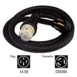 Generac 6389 25-Foot 50-Amp Generator Cord with NEMA 1450 Male End and CS6364 Female Locking End