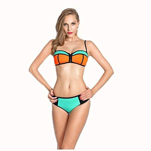 Spiaggia Bikini Europeo Xxl Oudan bikini Da Diviso Stile Dimensione bikini Donna colore AY4ZwqU