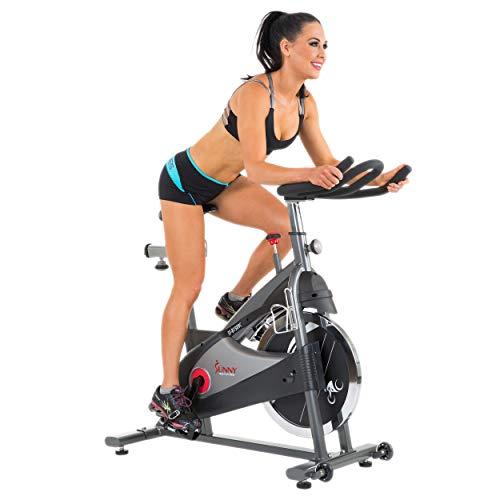 2ba717f5dbe Sunny Health & Fitness SF-B1509C Chain Drive Premium Indoor Cycling  Exercise Bike, Gray