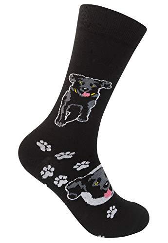 Funatic Black Lab Labrador Retriever Crew Socks - For Dog and Puppy Lovers