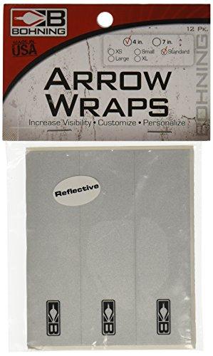 13 - Pk. Bohning 4 inch Blazer Wraps, REFLECTIVE (Bohning Wrap)