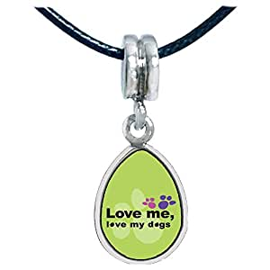 Chicforest Silver Plated Love Me, Love My Dogs Photo Angel Tears Charm Beads Fits Pandora Bracelet