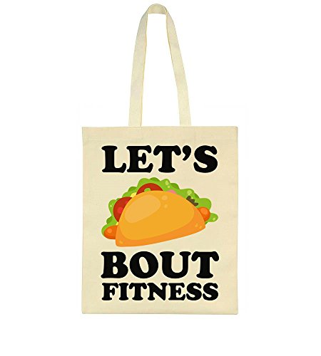Tote Fitness Funny Design Taco Let's Delicious Bout Bag Idcommerce Zt1qw0I