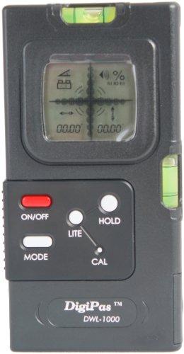 Digi-Pas DWL 1000XY Digitale Pfosten-Wasserwaage mit 2 Achsen und Genauigkeit 0,05°