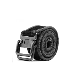 Forged Alumium Slide Metal Buckle Canvas Webbing Waistbelt for Men