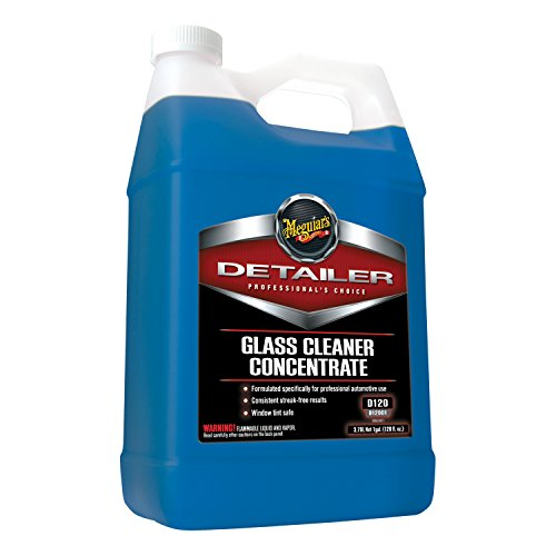 (Meguiar's Glass Cleaner Concentrate - Car Window Cleaner for a Crystal Clear View - D12001, 1 gal)