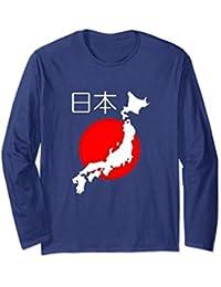 Nihon Map of Japan with Hi no Maru Sun Background