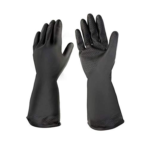 BFQY FH Latex Chemical Gloves, Heat Resistant Industrial Safety Gloves, Acid and Alkali Resistant Gloves (Color : 1 Pair, Size : L)