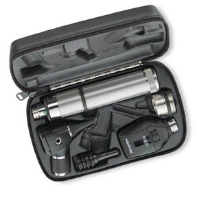Welch Allyn 97121 Halogen Hex Diagnostic Set Including Standard Ophthalmoscope, Pneumatic Otoscope, Rechargeable, Soft Storage Case, Nickel-Cadmium Battery, IEC Plug Type-A, 3.5V (Pneumatic Ophthalmoscope Otoscope)