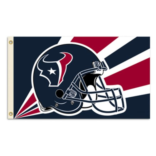 NFL Houston Texans 3 by 5 Foot Flag (Houston Texans Flag)